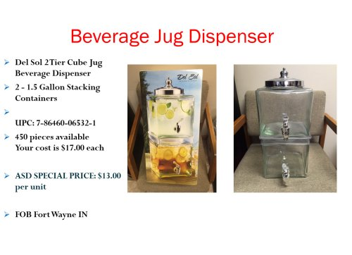 Beverage Jug Dispence Deal