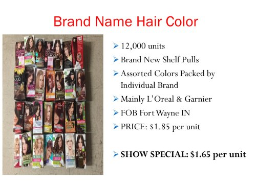 Brand Name Hair Color Deal - 1.65 per unit