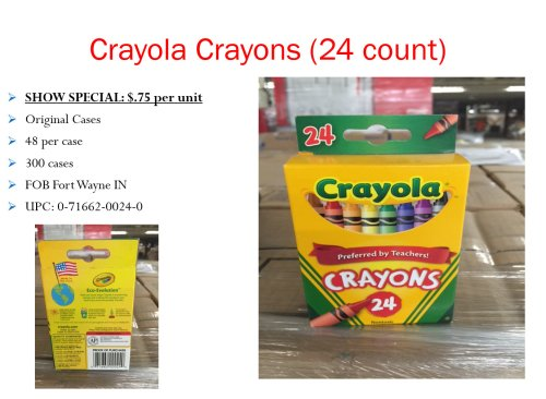 Crayola Crayons Deal - .75 per unit