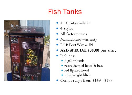 Fish Tank Deal - 149-199 ea